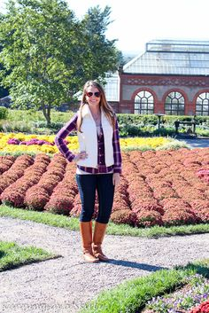 Plaid Shirts & Puffy Vests- perfect fashion look for fall and winter | Running in a Skirt