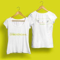 Vrouwen T-shirt: voor- en achterzijde