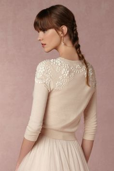 BHLDN Millie Sweater in Bride Bridal Cover Ups at BHLDN