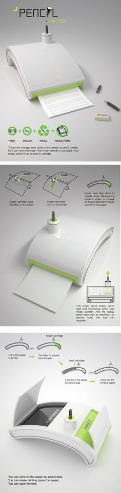 Pencil printer... this would be amazing for just black and white and pencils are so much cheaper than ink
