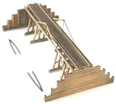 Very nice wood bridge #modeltrainlayouts #modeltrainbridges
