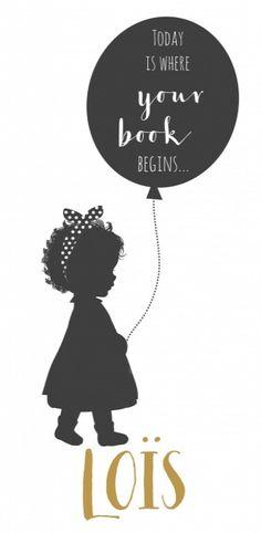 Geboortekaartje Loïs voor