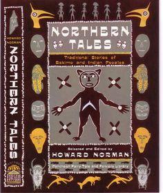 "Book Jacket/ Cover illustration/ ""Northern Tales"" by Howard Norman/ Pantheon/ Angela Skouras, Designer/ Gouache"