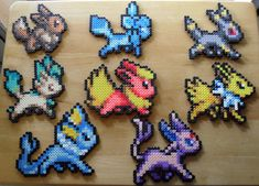 Artículos similares a Eeveelution Sprite Set of 8 en Etsy Pokemon Perler Beads, Diy Perler Beads, Perler Bead Art, Perler Bead Designs, Perler Bead Templates, Melty Bead Patterns, Perler Patterns, Beading Patterns, Nerd Crafts