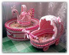 Поделка изделие Плетение Розовый набор «София» Трубочки бумажные фото 1