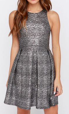 Fleck Yeah! Black and Silver Dress