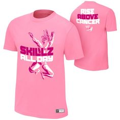 "Kofi Kingston ""Rise Above Cancer"" Pink Authentic T-Shirt - #WWE"