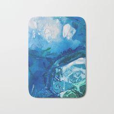Bathrooms should be a great ocean bright and calming! Deep Blue Ocean Life Bath Mat by ANoelleJay | Society6 @ANoelleJay | @Society6 20% off and shipped free!