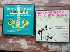 SOUTH PACIFIC Rogers & Hammerstein My Fair LADY Frederick Loewe 45 rpm 2 boxes vintage 1950s musicals records