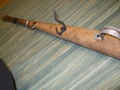 baseball bat with hooks... for a vintage sports baby room