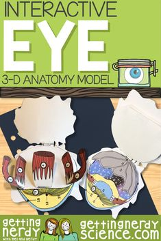 Interactive Eye Dissection Model Interactive Eye Dissection Model,Interactive Notebooks Science For an EYE-opening exploration, check out our Scienstructable Paper Dissection model. This authentic paper dissection can be used as a dissection-free. Biology Lessons, Science Lessons, Life Science, Science Biology, Science Ideas, Science Art, Science Vocabulary, Teaching Science, Science Education