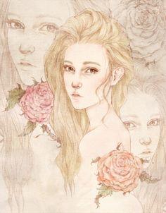 Grafolio _illustration by SHINJIN  그저 그렇게 우리는 스쳐 지나갔다. 봄비 아래 흩어지고 지는 꽃잎처럼 바람결에 사라지는 추억들...
