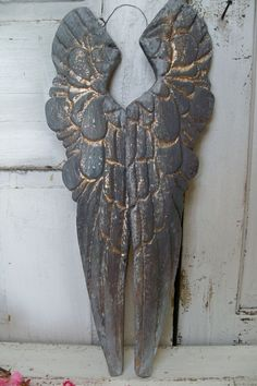 Large wooden wings wall sculpture deep by AnitaSperoDesign