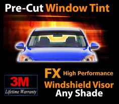 3M High Performance Windshield Visor Tint Fits For 1990-2015 Acura - Any Shade #3M