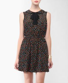 collared confetti print dress from forever 21