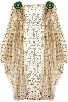 Egyptian Art Deco Cotton Shrug - 1920's