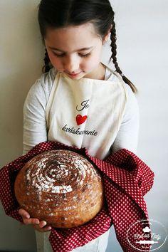 DETSKÝ KVÁSKOVÝ CHLIEB :: Chuť od Naty- jedlo, ktoré chutí Slovak Recipes, Ham, Baking, Breads, Inspire, Bread, Bread Making, Bread Rolls, Patisserie