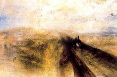 Luvia, Vapor y Velocidad. Turner. Romanticismo. S. XIX.