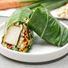 Thai Tofu Collard Wraps Recipe by Tasty