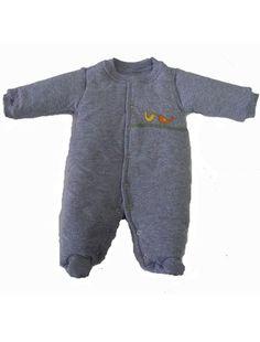 Macacão Esquimó Mescla Cinza Pássaros para bebê dda1d5a615f