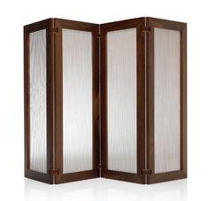 Biombo chino artesanal en madera y tela parabanes - Puertas de biombo ...