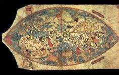 Genoese map - Early world maps - Wikipedia, the free encyclopedia Early World Maps, Old World Maps, Old Maps, Vintage Maps, Antique Maps, Map Globe, Historical Maps, Map Art, Ancient History