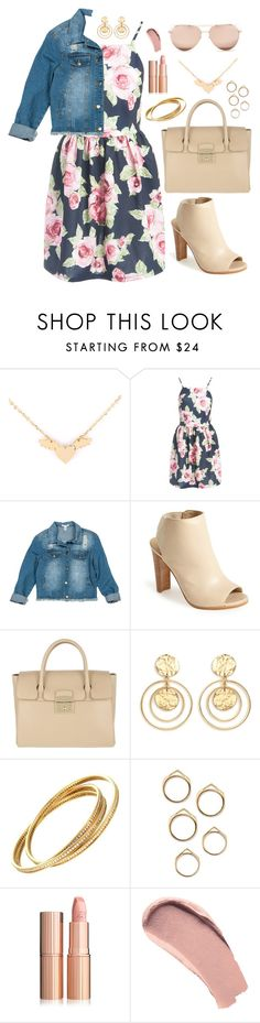 """""""Spring Walks"""" by rndmchick ❤ liked on Polyvore featuring Sans Souci, Stuart Weitzman, Furla, Kenneth Jay Lane, Burberry and Linda Farrow"""