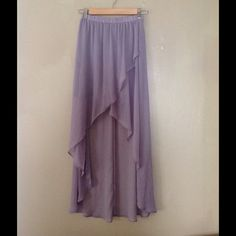 BOGO FREE! Lavender hi-lo skirt Pretty and flowy. Skirts High Low