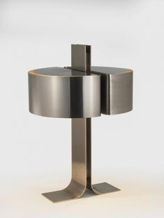 Available for sale from Demisch Danant, Verre Lumiere Studio, Table Lamp Brushed nickel, 16 × 9 × 9 in Pierre Guariche, Pierre Paulin, Interior Lighting, Lighting Design, Metalarte, Luminaire Vintage, Studio Table, Interior Design Gallery, Futuristic Interior