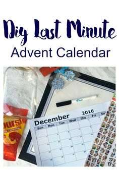 Diy Last Minute Advent Calendar Idea (For The Procrastinating Moms)