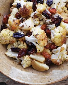 Cumin Roasted Cauliflower with Sultanas - http://www.sweetpaulmag.com/food/cumin-roasted-cauliflower-with-sultanas #sweetpaul