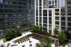 Courtyard at The Aldyn Luxury UWS NYC Apartments