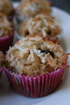 I added a few more chips than the recipe called for.  I liked the muffin, but couldn't really taste the coconut.  I give it a thumbs up!