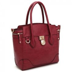 """Elizabeth in Burgundy"" Loving. This. Color. Inside has 2 sections with zipper compartment in the middle."