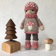 """Gudrun Dahle on Instagram: """"🍄🌸 Mushroom knitty kid #9 🌸🍄 . (Sold -$35)"""" Crochet Toys, Gingerbread Cookies, Stuffed Mushrooms, Teddy Bear, Kids, Instagram, Photos, Wool, Gingerbread Cupcakes"""