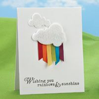 Would be pretty on pale blue so clouds would pop - pretty for a bridging ceremony invite