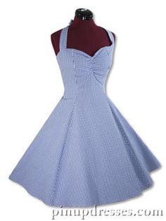 blue gingham.  Guess who.