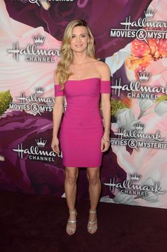 Brooke D'Orsay arrives to the Hallmark Channel and Hallmark Movies and Mysteries Winter 2018 TCA Press Tour held at Tournament House on January 13, 2018 in Pasadena, California.
