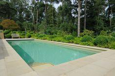 Bisazza mosaic pool with sawn yorkstone surround stone Outdoor Pool, Outdoor Decor, Pools, Mosaic, Environment, Stone, Inspiration, Home Decor, Biblical Inspiration