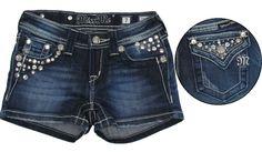 miss me shorts | Miss Me *Jean Marie* Dark Denim w/Antique Wash Must Have Bling Denim ...