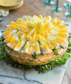 Polarbröd | Smörgåstårta påsk Sandwhich Cake, Swedish Recipes, Dinner Is Served, Savoury Cake, Easter Recipes, Food Inspiration, Cake Decorating, Sandwiches, Food And Drink