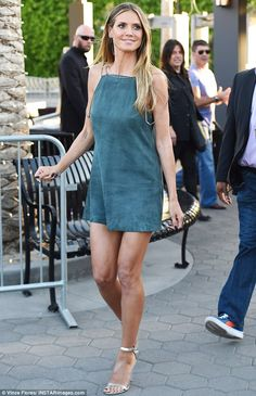 Simply pin-credible: Heidi Klum was turning heads for the right reasons thanks to her dres...