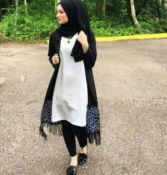 black n white, black, and hijab image