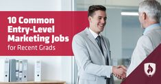 There are several entry-level #marketing #jobs for recent grads to pursue. Use this guide to find the one that fits your interests and aspirations! #jobsearch #business #entrylevel