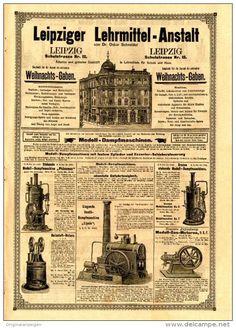 Original-Werbung / PROSPEKT 1897 : 4-Seiter - LEIPZIGER LEHRMITTEL - ANSTALT / LEIPZIG - je ca. 220 x 300 mm