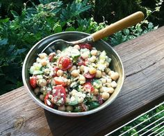 Laurie Bakke's Kitchen – A fresh garden salad for the chick-pea lovers!
