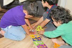 As the puzzle is so big, all three boys were able to work on this together and Mr Z enjoyed quizzing his little brothers on the letters. There are lots of games you can make up using the finished puzzle, like calling out a letter and asking the children to put a counter on the correct one. The little ones also liked to sing the alphabet song while they worked! http://intheplayroom.co.uk/2014/07/02/early-years-toys-meadow-kids/