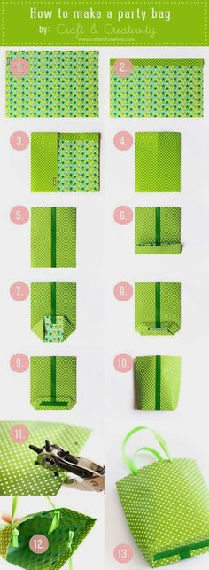 how to make a party bag