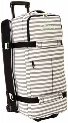 Black Friday 2014 Dakine Women's Split Roller Bag, Regatta Stripes, from Dakine Cyber Monday Carry On Suitcase, Carry On Luggage, Travel Luggage, Luggage Bags, Travel Bags, Travel Ideas, Pack Your Bags, My Bags, Purses And Bags