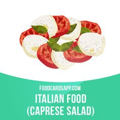 Caprese salad is a simple Italian salad, made of sliced fresh mozzarella, tomatoes, and green basil, seasoned with salt and olive oil. #caprese #capresesalad #italianfood #salad #salads #vegetarian #vegetarianfood #vegan #govegan #veganfood #food #english #englishlanguage #englishlearning #learnenglish #studyenglish #language #vocabulary #dictionary #vocab